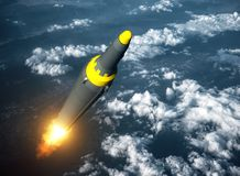 Launch Of North Korean Ballistic Missile Royalty Free Stock Image