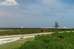 Launch pad for space shuttle. In cape canaveral center. Panoramic view on cape canaveral station Stock Photo