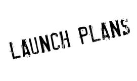 Launch Plans rubber stamp. Grunge design with dust scratches. Effects can be easily removed for a clean, crisp look. Color is easily changed vector illustration
