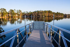 A launch ramp on a lake for boating. Stock Image