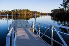 A launch ramp on a lake for boating. Stock Photos