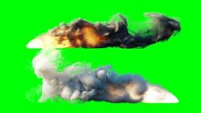 Launch rocket isolate. Green screen. 3d rendering.