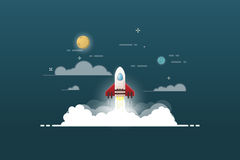 Launch rocket project Stock Photography
