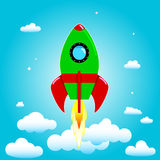 Launch rocket Royalty Free Stock Image