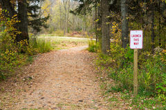 Launch Sign Next to Winding Path Royalty Free Stock Images
