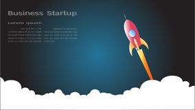 Launch space rocket flying  Stock Image