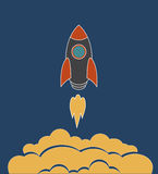 Launch of space rocket Royalty Free Stock Photography