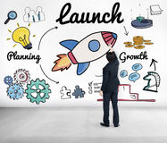 Launch Start up New Business Begin Concept.  royalty free stock images