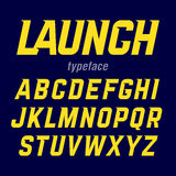 Launch typeface Royalty Free Stock Photo