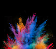 Launched colorful powder. Royalty Free Stock Image