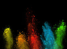 Launched colorful powder Stock Image