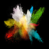Launched colorful powder Stock Photography