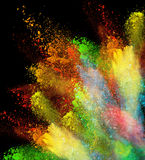 Launched colorful powder Stock Images