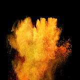 Launched colorful powder Royalty Free Stock Images