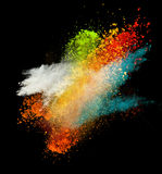 Launched colorful powder Royalty Free Stock Image