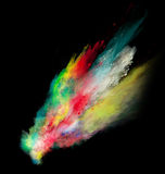 Launched colorful powder Royalty Free Stock Photo