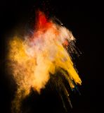 Launched colorful powder Royalty Free Stock Photos