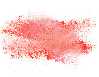 Launched colorful powder over white Royalty Free Stock Photos