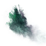 Launched colorful powder over white Stock Photography