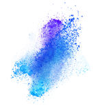 Launched colorful powder over white Royalty Free Stock Photography
