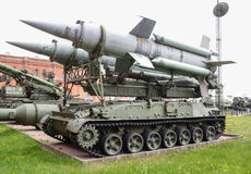 Launcher of anti-aircraft missile system. Circle. Stock Images