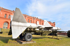 Launcher of missile complex in Military Artillery Museum. Royalty Free Stock Photography