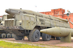 Launcher of missile complex in Military Artillery Museum. Stock Images