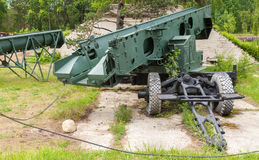 Launcher of Sopka coastal defense system. Launcher of S-2 Sopka coastal defense system from Soviet Union Stock Images