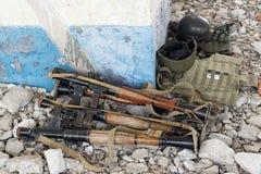 Launchers för granat RPG-7 Fotografering för Bildbyråer