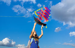 Launches ship kite Royalty Free Stock Photography