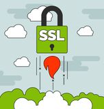 Launching SSL secure website concepts with Stock Photography