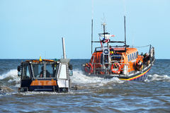 Launching lifeboat. Stock Images