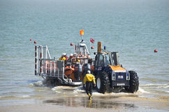 Launching the lifeboat. Stock Photo