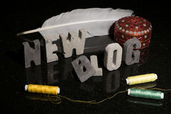 Launching a new fashion or design or sewing blog blog Stock Photography