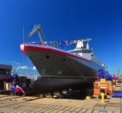 Launching patrol vessel Stock Image