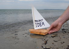 Launching a project idea Stock Photography