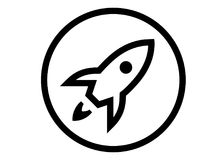 Launchpad apple Logo royalty free illustration