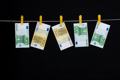Laundered Money Stock Image