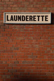 Launderette sign. Royalty Free Stock Photo