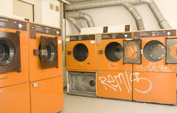 Launderette washing machine Stock Photos