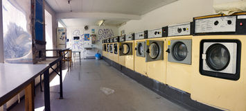Launderette washing machine Stock Photo