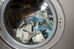 Laundering money Royalty Free Stock Photo