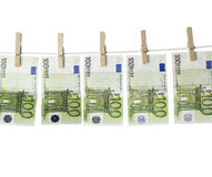 Laundering money Royalty Free Stock Images