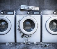 Laundering of money business background concept closeup Royalty Free Stock Image