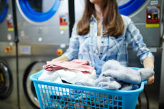 Laundress at work Stock Image