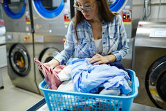 Laundress working Stock Photography