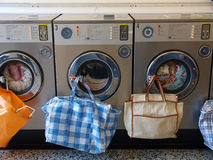 Laundrette. Photograph of washing machines taken in a Laundrette Royalty Free Stock Images