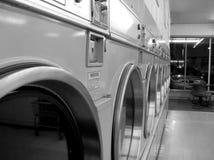 Laundromat. A black and white laundromat stock photography