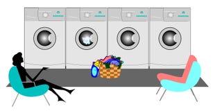 laundromat Royalty-vrije Stock Afbeeldingen