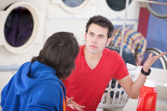 Laundromat Argument Royalty Free Stock Images